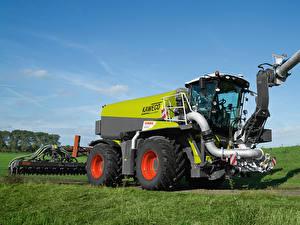Hintergrundbilder Landwirtschaftlichen Maschinen 2014-20 Claas Xerion 4000 Saddle Trac Worldwide