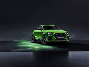 Images Audi Front Green RS Q8 Cars