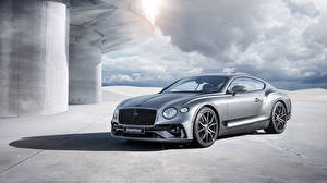 Wallpaper Bentley Silver color Metallic Continental GTC Startech Cars
