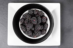Fotos & Bilder Brombeeren Viel Teller Lebensmittel
