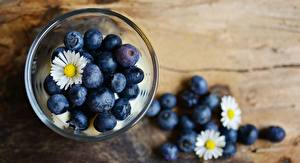 Image Blueberries Matricaria Bowl Food