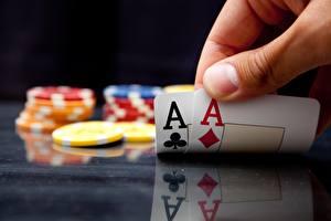 桌面壁纸,,遊戲牌,王牌撲克牌,籌碼,散景,賭場,
