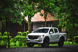 Image Chevrolet White Pickup 2019 Colorado Trail Boss Double Cab Cars