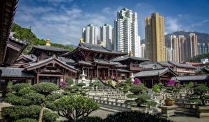 Bilder China Hongkong Pagoden