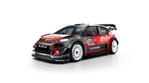 Bilder Citroen Tuning Weißer hintergrund C3 WRC auto