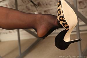 Fotos Hautnah Bein High Heels Strumpfhose Bokeh Mädchens
