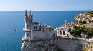 Picture Crimea Castle Monuments Russia Sea Swallow's Nest