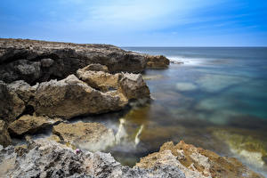 Images Cyprus Coast Sea Crag Peyia Nature