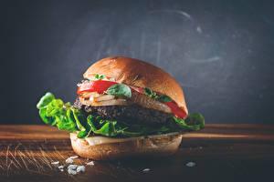 Fotos Fast food Hamburger Gemüse Hautnah Lebensmittel