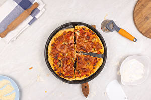 Images Fast food Pizza Frypan