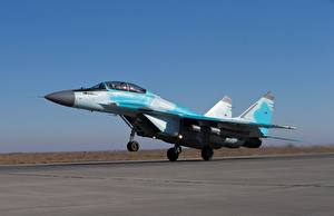 Photo Airplane Fighter aircraft Mikoyan MiG-35 Take off Russian