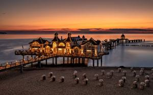 Image Germany Evening Sunrises and sunsets Marinas  Nature