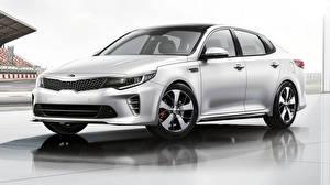 Fondos de escritorio KIA Metálico Plata color Sedán Optima 2020 autos
