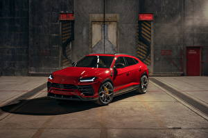 Picture Lamborghini Crossover Red Metallic Urus SSUV Cars