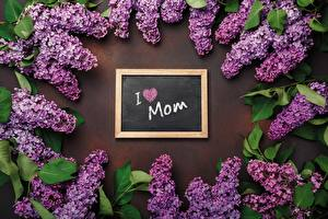 Wallpaper Lilac Mother's Day English Lettering