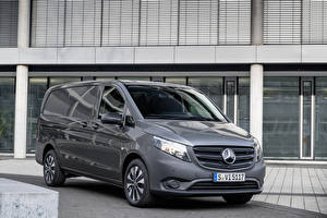 Picture Mercedes-Benz Minivan Grey 2020 Vito Panel Van Worldwide automobile