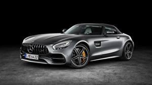 Hintergrundbilder Mercedes-Benz Metallisch Graues AMG GT