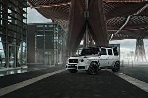 Hintergrundbilder Mercedes-Benz Brabus Sport Utility Vehicle Weiß 2020 Brabus 700 Widestar Autos