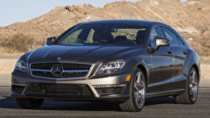 Images Mercedes-Benz Black Front Metallic CLS automobile