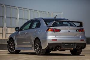 Bilder Mitsubishi Hinten Grau Metallisch 2014, Lancer Evolution X Autos