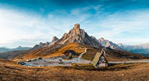 Bilder Gebirge Italien Resort Himmel Landschaftsfotografie Cinque Torri di Averau, Passo Jau Pass