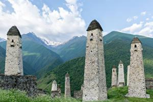 Fotos & Bilder Gebirge Russland Turm Erzyas, State nature reserve, Ingushetia Städte