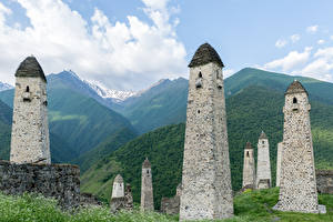Pictures Mountain Russia Tower Erzyas, State nature reserve, Ingushetia