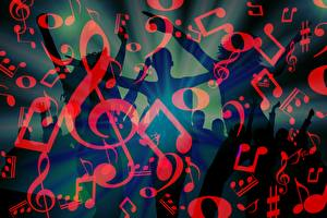 Fonds d'écran Note de musique Texture Personnes Dansent