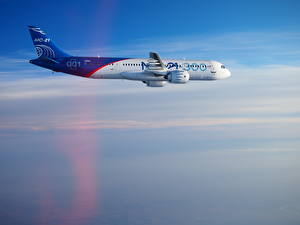 Picture Airplane Passenger Airplanes Side Flight Irkut MC-21