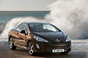 Bakgrundsbilder på skrivbordet Peugeot Metallisk Brun 308 Bilar
