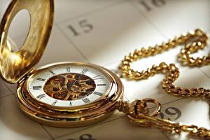 Fotos & Bilder Taschenuhr Uhr Gold Farbe Mechanismus Autos
