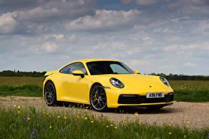 Fondos de escritorio Porsche Amarillo 911 Coches