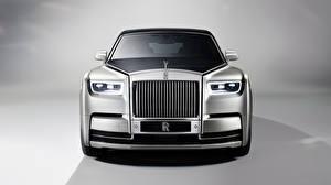 Fondos de escritorio Rolls-Royce Plata color Frente Metálico Phantom Coches