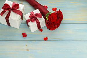Fotos & Bilder Rosen Sträuße Geschenke Bretter Vorlage Grußkarte Schleife Blumen