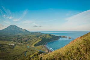 Papel de Parede Desktop Rússia Ilha Enseada De acima Quiet Bay, Sakhalin Naturaleza