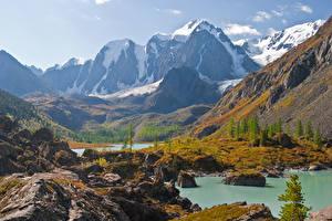 Fotos Russland Berg See North-Chuyskiy ridge, Altai Natur