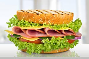 Pictures Sandwich Bread Sausage Vegetables