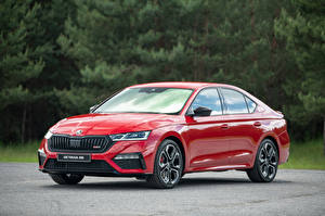 Photo Skoda Red Metallic Octavia RS, 2020 automobile