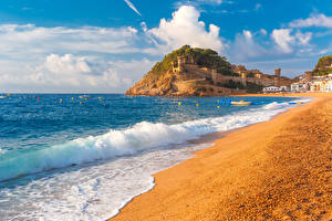 Images Summer Sea Waves Spain Beach Tossa de Mar, Girona