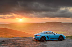 Pictures Sunrise and sunset Porsche Side Metallic 718 Cayman Cars
