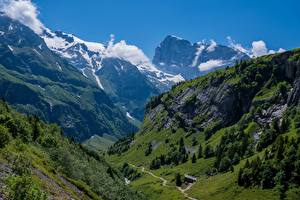 Image Switzerland Mountains Alps Cliff Engelberg