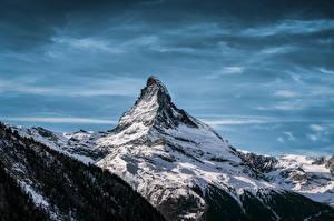 Pictures Switzerland Mountains Snow Alps Matterhorn, Valais