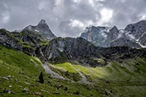 Fotos & Bilder Schweiz Gebirge Steine Felsen Wolfenschiessen Natur
