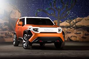 Фотографии Toyota Спереди Оранжевый Кроссовер fj 4 concept 2020 авто