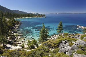 Fotos & Bilder USA See Steine Tahoe Lake Natur