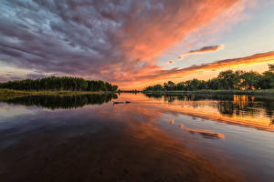 Picture USA Parks Rivers Sunrises and sunsets Sky Chatfield State Park Colorado Nature
