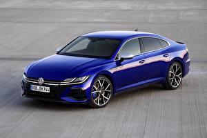 Bureaubladachtergronden Volkswagen Blauw kleur Metallic Arteon, R-Line, 2020 Auto