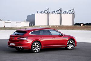 Bilder Volkswagen Kombi Rot Metallisch Arteon, R-Line, Shooting Brake automobil