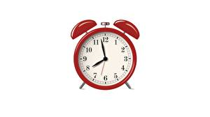 Images Alarm clock Clock face Red White background