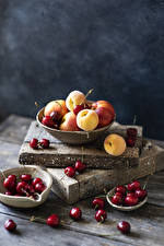Pictures Apricot Cherry Boards Bowl